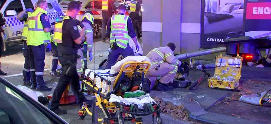 Man arrested after truck hits five pedestrians in Melbourne