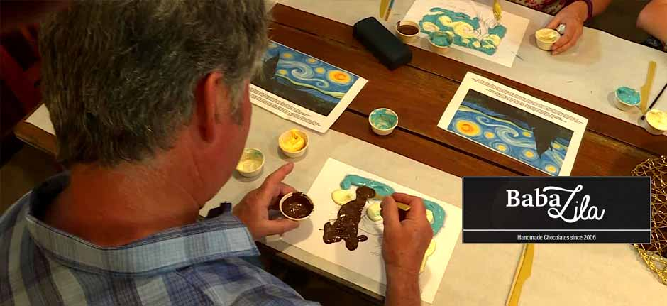Baba Lila handmade chocolates : Art classes with a twist