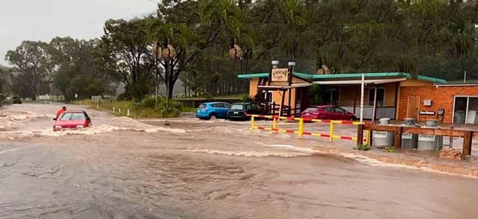 Record Rainfall hits The Mid North Coast - Telegraph Point