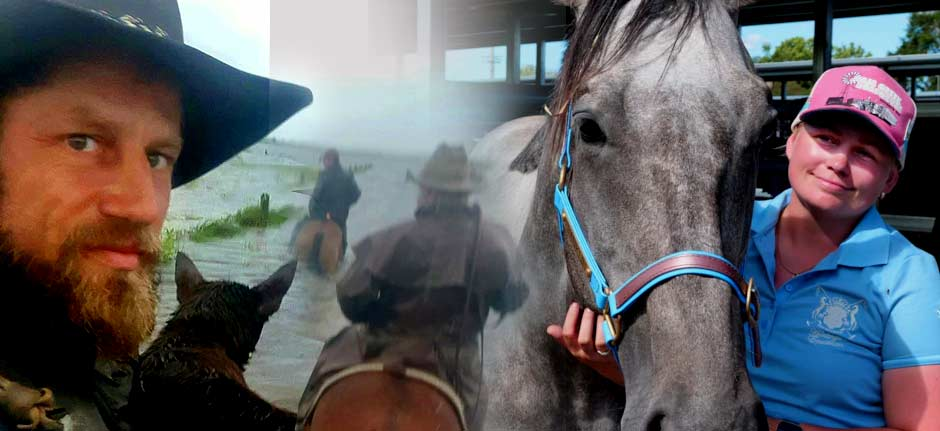 Humble heroes risk lives to lead horses to safety
