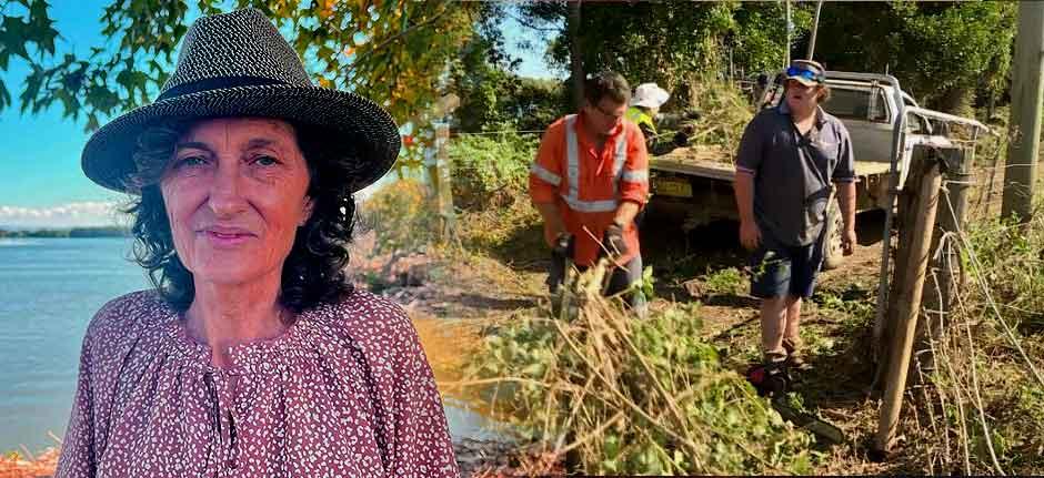 Rural Aid volunteers help dairy farmers on Oxley Island