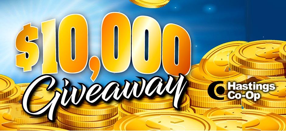 Hastings Co-Op $10,000 Give-away!