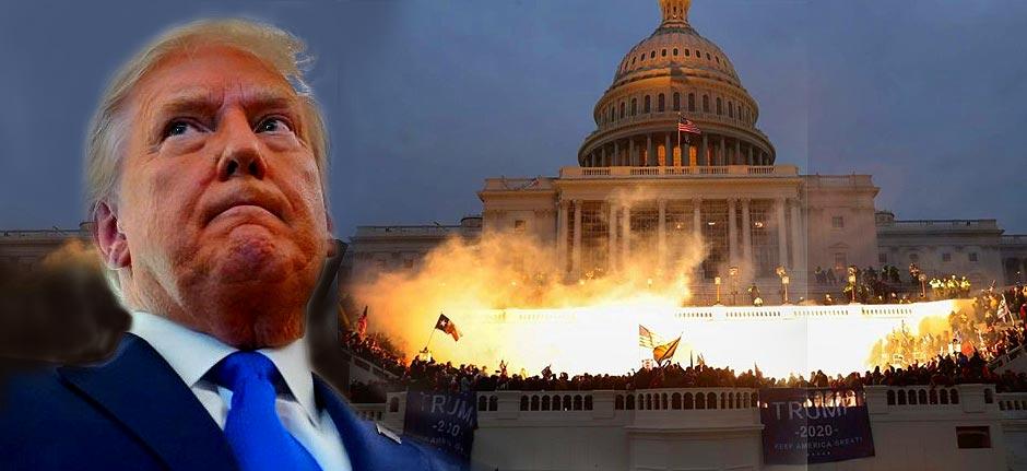 'Incitement of insurrection' Trump facing impeachment
