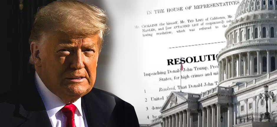 It's A Record ! Trump Impeached For A Second Time