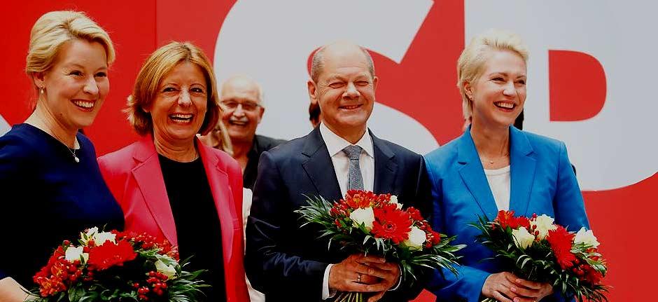 German SPD seeks three-way alliance to replace Merkel
