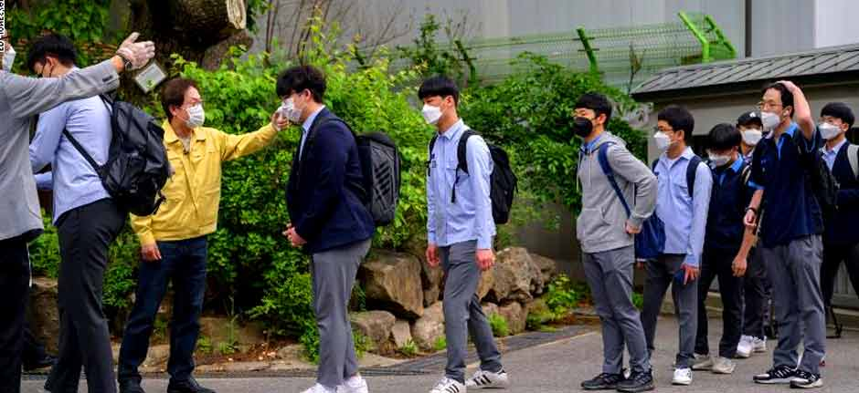 School's out again in South Korea : New outbreak, 200 closed