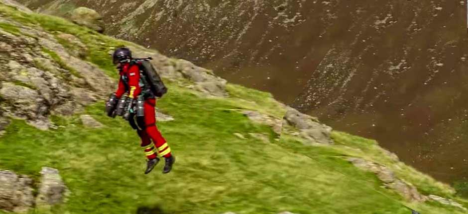 Successful 'Jet suit' trial for UK Air Ambulance paramedics