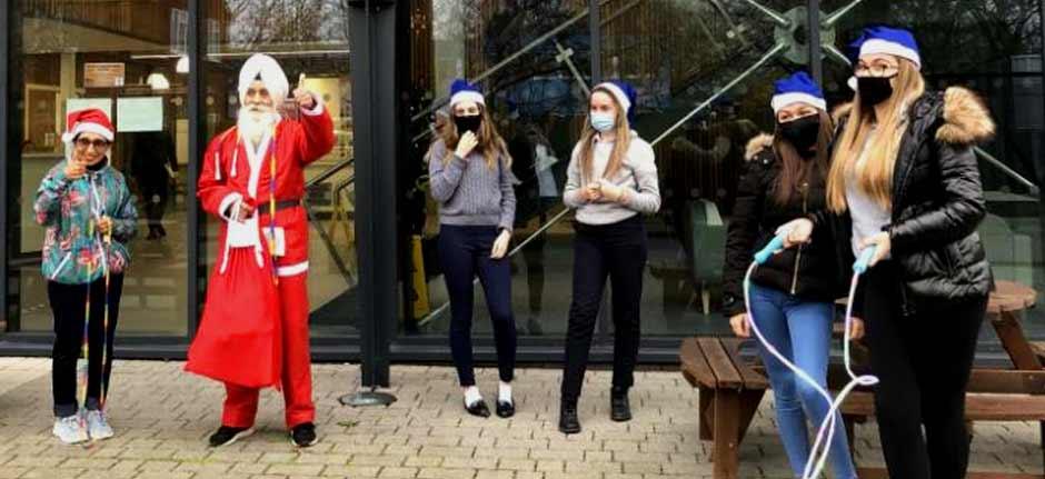 'Skipping Sikh Santa' is spreading Christmas cheer in UK