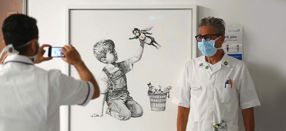 Banksy's NHS tribute painting sells for record $30 million