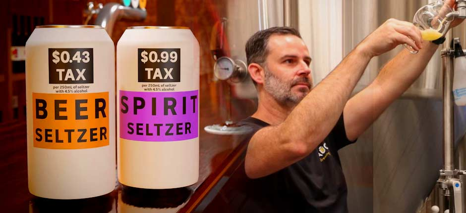 fad drink seltzer highlights Australia's alcohol tax system