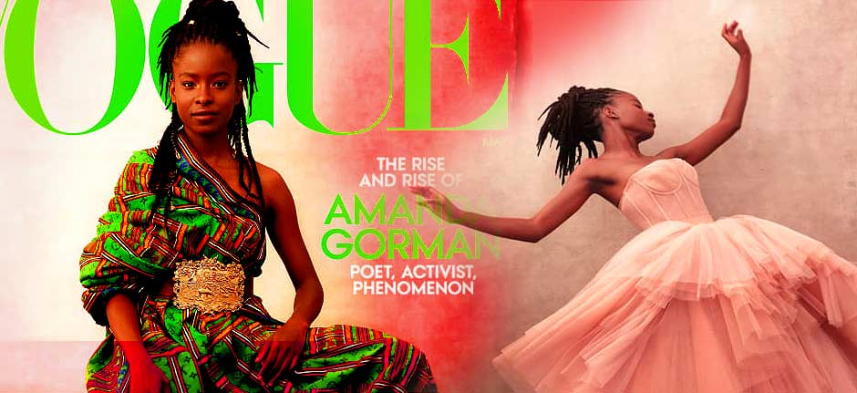 poet laureate Amanda Gorman featured on the cover of Vogue