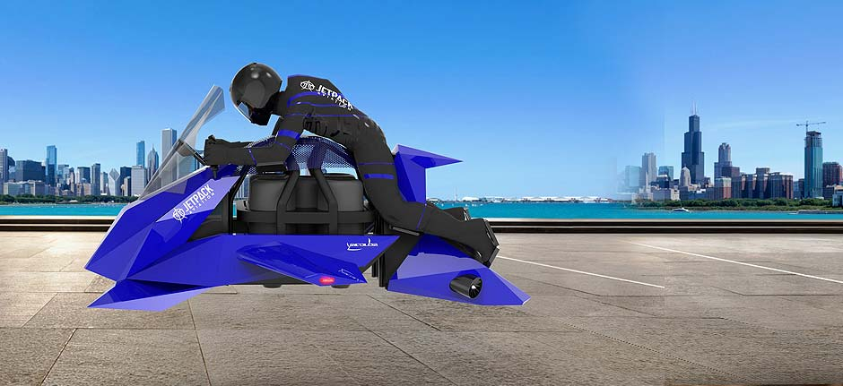 Jetpack aviation intro's the 'Speeder' flying motorcycle