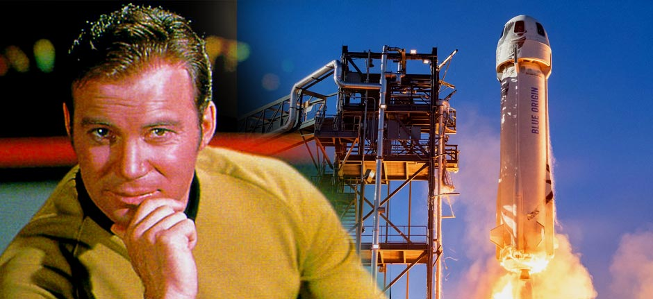 'Beam me up Scottie' Captain Kirk heading for space at 90!